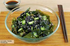 Ensalada de algas con pepino. Receta saludable