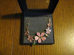 PILGRIM Armband rosa Blumen