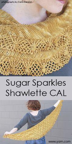 Join our Sugar Sparkles Shawlette Crochet-a-Long! Great pattern designed by Linda Permann using Malabrigo Sock yarn.