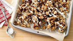 Oh yes we did! Careful layering gets this sweet treat out of your oven and into your slow cooker.