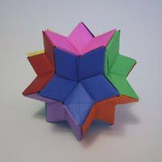 O QUE É MEU É NOSSO: Origami - Giramundo - Hexecontaedro Rômbico - Rhombic Hexecontahedron