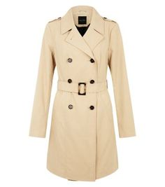 Camel Double Breasted Trench Coat (New Look) - size 10 or 12 - ($61.75)