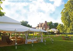 open spring wedding marquees
