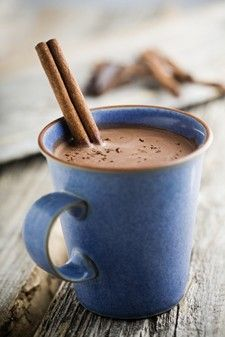 Hot Cocoa using raw cocoa powder and coconut sugar. I only use coconut sugar now.