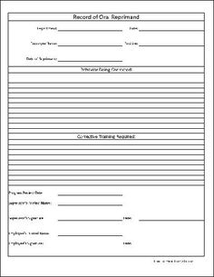 disciplinary form template free employee disciplinary action form