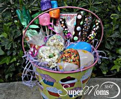 Sweet Treats Basket - Tags: cute easter basket | creative easter basket | easter basket for kids | inexpensive easter basket | easter basket ideas | diy easter baskets | easter baskets | easter baskets for girls | easter baskets for teens | SuperMoms360.com