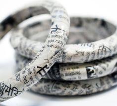 newspaper bracelets