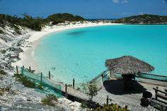 half moon cay bahamas (Saddleback Cay and Iguana Cay), Exuma Islands, Bahamas