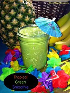 Drink Recipes: Smoothies Recipes: Tropical Green Smoothie