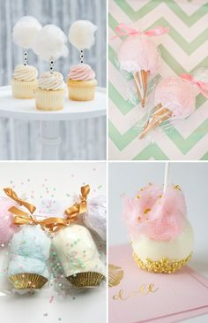 Candy floss crush: a whimsical wedding treat favors: edib Homemade Wedding Favors, Creative Wedding Favors, Inexpensive Wedding Favors, Edible Wedding Favors, Cheap Favors, Wedding Desserts, Cotton Candy Favors, Cotton Candy Wedding, Cotton Candy Party