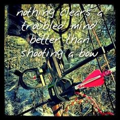 Nothing clears a mind better than shooting a bow #deerhunting #archery #hunting #quotes #outdoorslifestyle