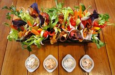 Easy-to-hold crudite cones will bring life to your gathering and color to your table.