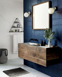 Beautiful bathroom - blue