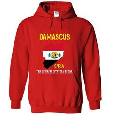 DAMASCUS - Its where my story begins! - #tee pee #cat hoodie. LIMITED TIME PRICE => https://www.sunfrog.com/No-Category/DAMASCUS--Its-where-my-story-begins-1304-Red-36630389-Hoodie.html?68278