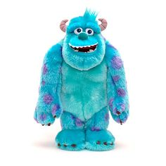 Sulley Scare Me Soft Toy. This fluffy Sulley Scare Me soft toy can share the skills he's learned at #Monsters #University. He'll roar when his arms are raised and speaks one of 15 phrases with a press of the button on his chest. #toy