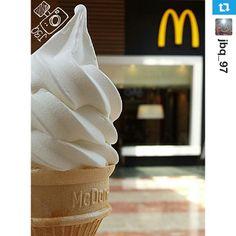 Yum Ice Cream Cone at McDonald's Arabia #Icecream #McDonalds #McDonaldsArabia