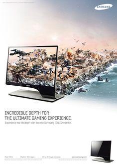Samsung 3d Monitor by Shapefarm , via Behance
