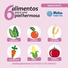 ¿Quieres conseguir una piel radiante? ¡Consume estos alimentos! #TipSalud #Saludable #CoachingNutricional #MedicaCenterFEM http://www.slimhealthy.com.mx/dieta-y-plan-de-alimentaci-n-.html