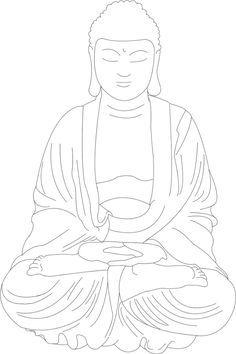 Buddha lineart by SarahMame