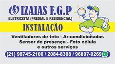 Cartão d Visita Cliente: Izaias Eletricista - RJ