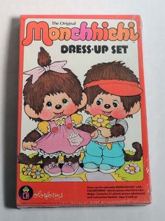 D235. VINTAGE: MONCHHICHI Dress Up Play Set By COLORFORMS Sealed (1974)