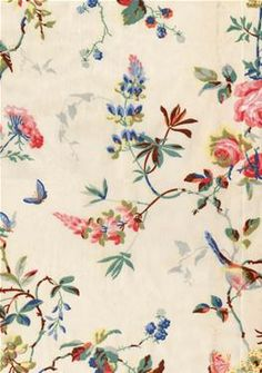 Birds & Roses Wallpaper-   reminds me very much of some of Anna Griffin's designs....