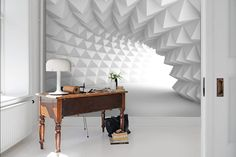 Pure white Abstract space Wallpaper Removable Self Self Adhesive Wallpaper, Peel And Stick Wallpaper, Wall Wallpaper, Wallpaper Ideas, Pure White, Black And White, Traditional Wallpaper, Geometric Wall, Removable Wall