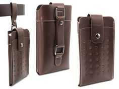 Coffee Retro Premium Leather Pouch Sleeve Double Pockets Belt Case Bag Holster for iPhone PLus ,iPhone 6 Plus,Galaxy ,Note Nexus ONE Leather Phone Case, Leather Belt Bag, Leather Wallet, Pu Leather, Pocket Holster, Phone Holster, Diy Leather Gifts, Leather Craft, Htc One M9