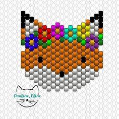 Diagrammes du soir, bonsoir! Deux pour le prix d'un aujourd'hui... Vous avez la version Spencer et la version Émilienne, à vous de choisir ! 😊😊😊 #jenfiledesperlesetjassume #miyuki #diagrammeperles #perlesaddict #fox #renard #beadpattern #beadwork #brickstitch #motifpauline_eline Beading Patterns Free, Peyote Patterns, Stitch Patterns, Beading Projects, Beading Tutorials, Spencer, Peyote Beading, Tear, Beaded Animals