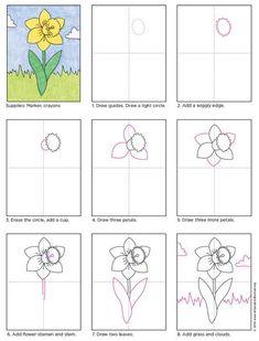 rajzoljunk nárciszt lépésről lépésre
