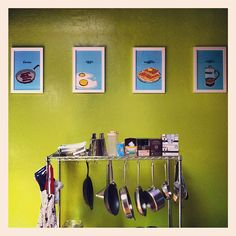 Meal-inspired prints for the kitchen and dining room: Food prints!