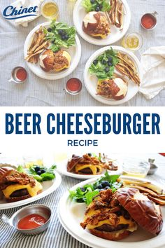 Fire up your guests' tastebuds with this deliciously easy Beer Cheeseburger recipe, just in time for summer.