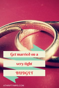 Budget Wedding Ideas: Get married without spending a fortune - perfect, great ideas.