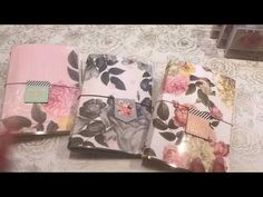Stampin up How to make a laminate Travelers Notebook - YouTube