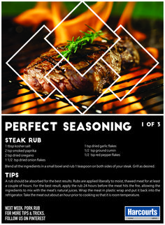 The holidays might be over, but summer is still in full swing, so why not make the most of it and braai up a storm this month. Here is our first tip for the perfect seasoning for your next braai. ‪#‎TopTipTuesday‬ ‪#‎HarcourtsPlatinum‬