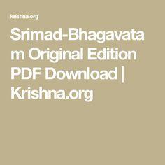 Srimad-Bhagavatam Original Edition PDF Download   Krishna.org