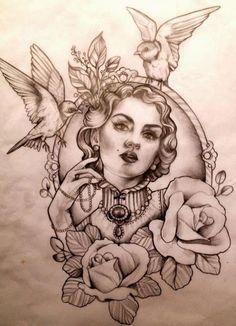 vintage tattoo idea