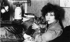 French writer 'Colette' with her cats. They are Chartreux, a breed with a thick 'blue' coat. Get premium, high resolution news photos at Getty Images Patricia Highsmith, Son Chat, Photo Chat, Cat People, Web Design, Cat Breeds, Cool Cats, Famous People, Kitty Cats