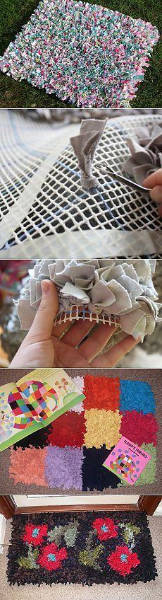 Мягкий коврик из лоскутков своими руками.