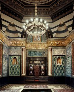 The Arab Room - Leighton House Museum, Holland Park, London. The former home of the painter Frederic, Lord Leighton, it has been open to the public since 1929.
