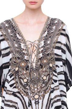 Printed Kaftan Dress | Plus Size Kaftans | Long Kaftans - Shahida Parides®