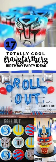 """Trying to plan a party that's """"more than meets the eye""""? These 17 totally cool Transformers party ideas can help you accomplish that mission. Just wait until you see the Bumblebee cake and fondant cupcake Transformers Birthday Parties, 6th Birthday Parties, Birthday Diy, Birthday Ideas, Transformer Party, Kids Party Themes, Party Ideas, Rescue Bots Birthday, Baby Boys"""