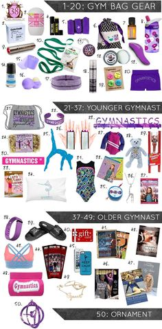 50 Gymnastics Gifts for the 2015 Holiday Season! Perfect for gymnasts of all ages and abilities.