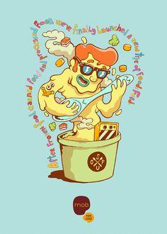 MOB Fun & Fresh Food lanza una campaña ilustrada muy molona