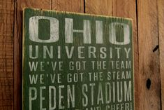 Ohio University Bobcats Distressed Wood Sign-Great by SportsSigns