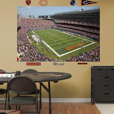 Fathead Chicago Bears Inside Soldier Field Mural - Wall Sticker Outlet