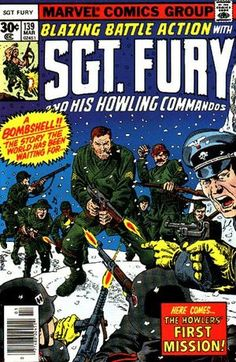 Back to title selection: Comics S: Sgt. Fury and his Howling Commandos Vol 1 Continues from Sgt Fury and his Howling Commandos Vol 120 Dum Dum Dugan, John Power, Joe Kubert, War Comics, Nick Fury, Marvel Comic Books, Classic Comics, Comic Book Covers, Comic Character