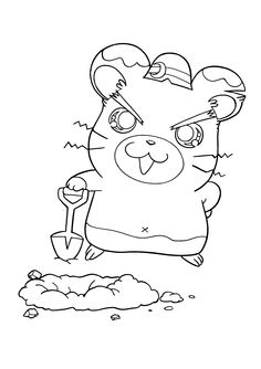 hamtaro coloring pages.html