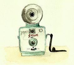 Vintage camera on Behance