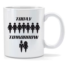 Tazza personalizzata Today tomorrow